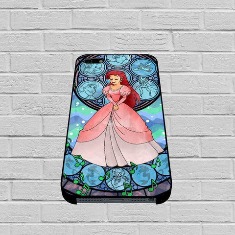 Disney Ariel Little Mermaid Stained Glass case of iPhone case,Samsung Galaxy