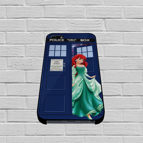 Disney Princess Ariel Tardis Police Box case of iPhone case,Samsung Galaxy