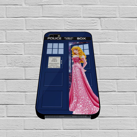Disney Princess Aurora Tardis Police Box 2 case of iPhone case,Samsung Galaxy