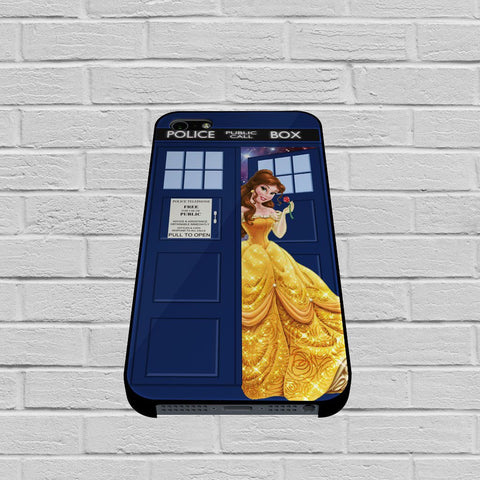 Disney Princess Belle Tardis Police Box 2 case of iPhone case,Samsung Galaxy