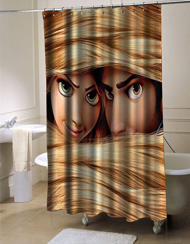 Disney Tangled Rapunzel shower curtain customized design for home decor