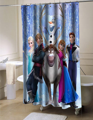 Disney frozen shower curtain customized design for home decor