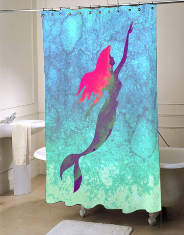 Disneyu0027s The Little Mermaid Shower Curtain Customized Design For Home Decor