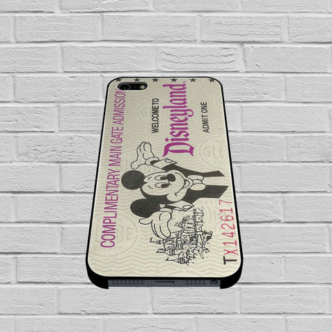 Disneyland Ticket case1 of iPhone case,Samsung Galaxy