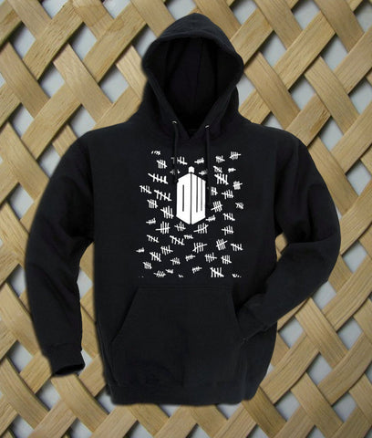 Doctor Who Tally Marks pullover Hoodie