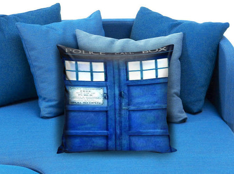 Doctor Who Tardis Police Public Call Box Pillow case