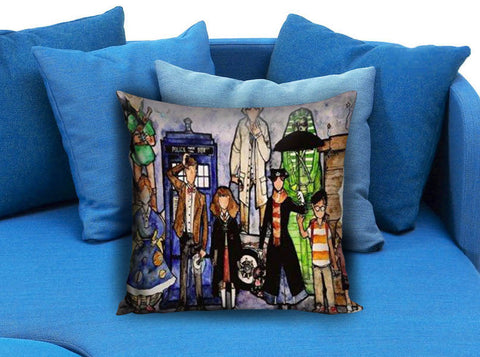 Dr Who Harry Potter Zelda in Tardis Box Pillow case