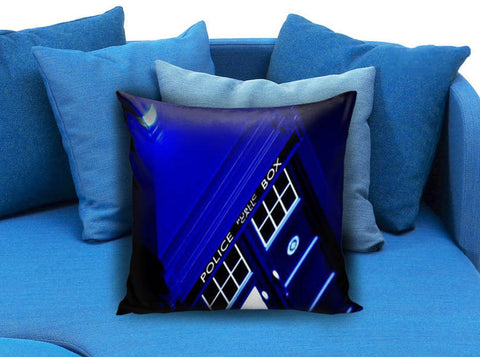 Dr Who Police Box Tardis Pillow case
