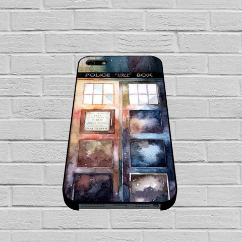 Dr Who Tardis Watercolor case of iPhone case,Samsung Galaxy