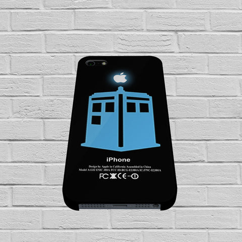 Dr Who Tardis With Apple Logo case of iPhone case,Samsung Galaxy