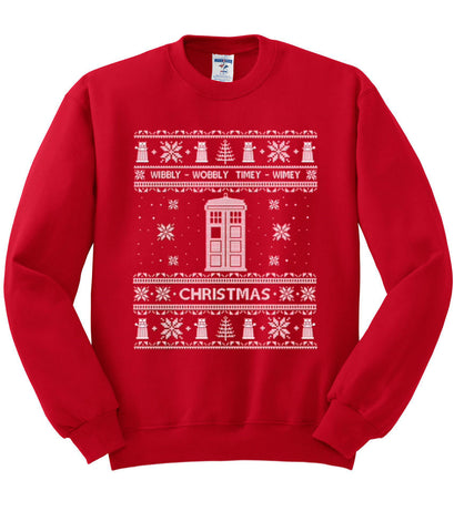 Dr Who ugly christmas sweater sweatshirt