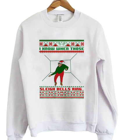 Drake Ugly Christmas Sweater I Know When Those Sleigh Bells Ring copy sweatshirt