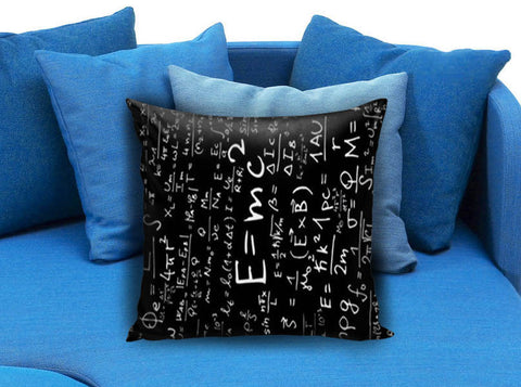 E=MC2 Albert Einstein Math Pillow case