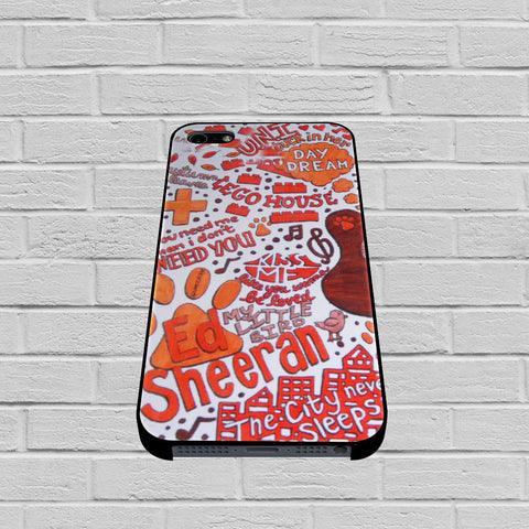 Ed Sheeran Collage case of iPhone case,Samsung Galaxy