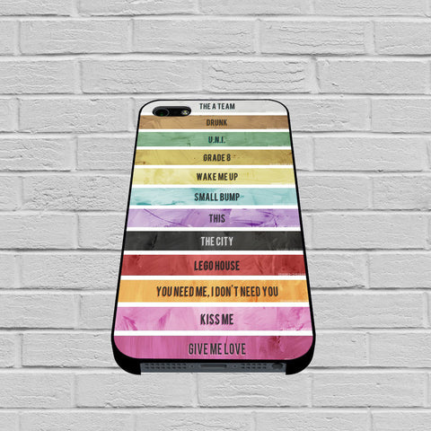 Ed Sheeran MusicTracklist case of iPhone case,Samsung Galaxy
