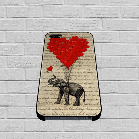 Elephant And Heart case of iPhone case,Samsung Galaxy