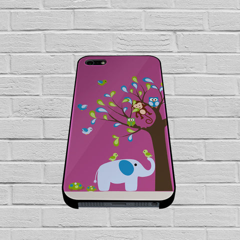 Elephant and Owl case of iPhone case,Samsung Galaxy