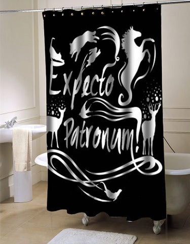 Expecto patronum harry potter shower curtain customized design for home decor