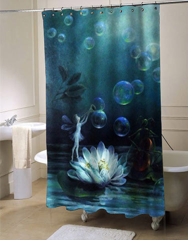 Fairy shower curtain customized design for home decor