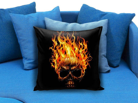 Fire Skull Pillow case