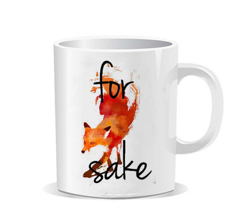 For Fox Sake art Ceramic Mug