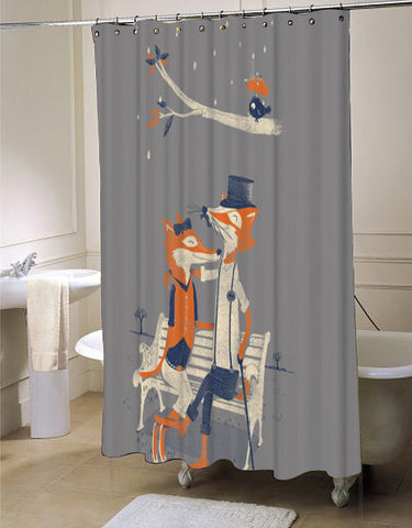 Fox Beautiful Animal Shower Curtain