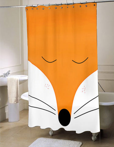 Fox  Animal Nature Tangerine   shower curtain customized design for home decor