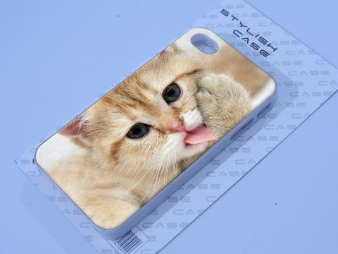 Kitten Kitty Cat Paw Lick Cute Funny Fun Animal Baby Phone case iPhone case Samsung Galaxy Case