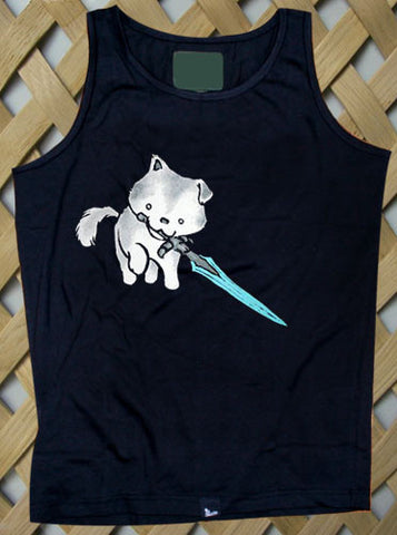 Great Grey Wolf Puppy Tank top