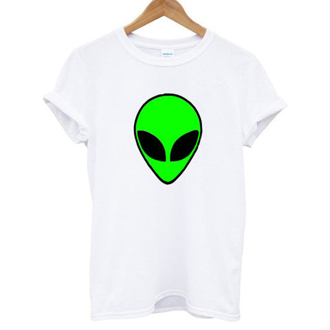 Green Alien Head Shirt