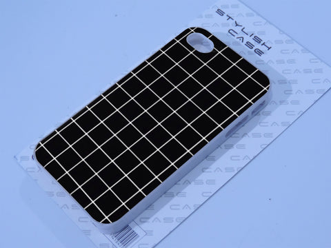 Grid phone case black Phone case iPhone case Samsung Galaxy Case