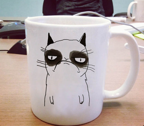 Grumpy cat cute Ceramic Mug