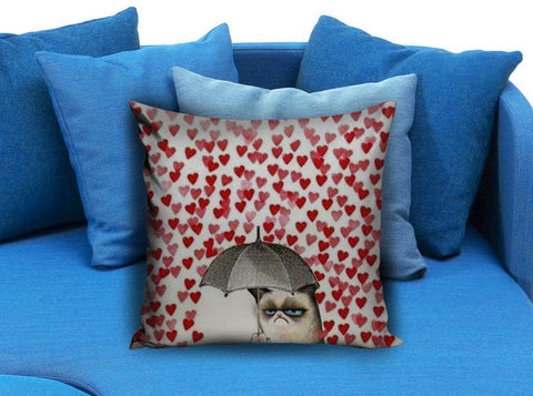 Grumpy cats heart Love Pillow Case