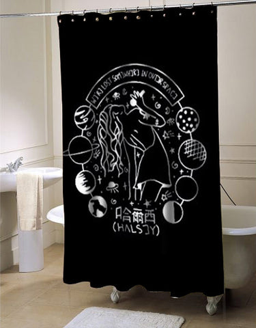 Halsey Art shower curtain customized design for home decor