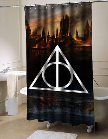 Harry Potter Deathly Hallows shower curtain
