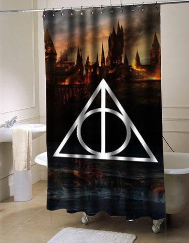 Harry Potter Deathly Hallows shower curtain customized design for home decor