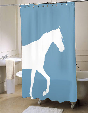 Horse  shower curtain customized design for home decor