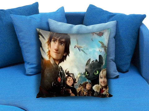 How to Train Your Dragon Cast Toothless Hiccup Pillow case