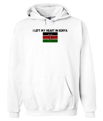 I Left My Heart In Kenya Hoodie