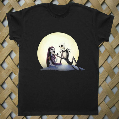 Jack and Sally nightmare before christmas T shirt