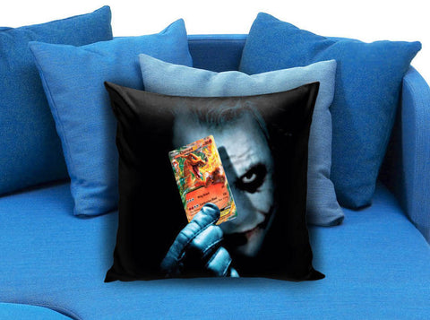 Joker Batman and Pokemon Charizard Card Pillow Case