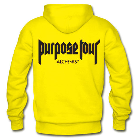 Justin Bieber Purpose Tour alchemist hoodie back