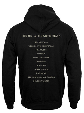 Kanye West 808S And HeartBreak Sand hoodie back