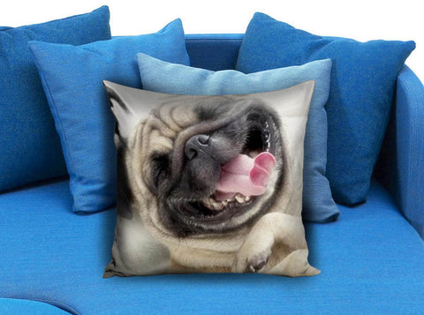 Laughing Smile Pug Dog Boxer Pillow case