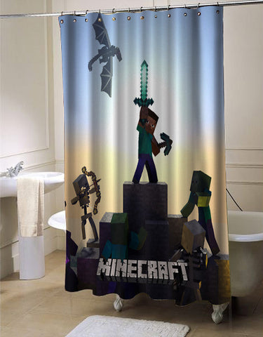 Legend Of Creeper Brick Game shower curtain customized design for home decor