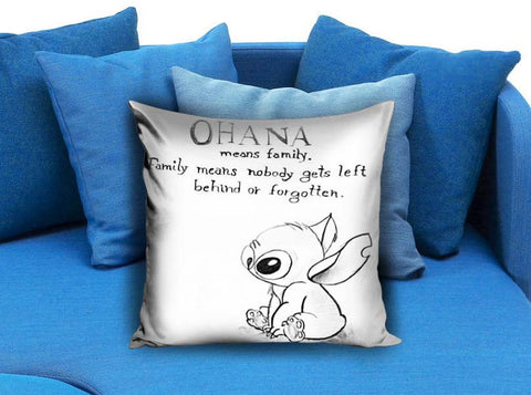 Lilo Series Ohana Lilo and Stitch Pillow case