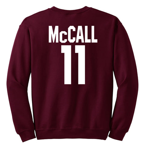 MCCALL 11 sweatshirt back