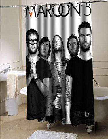 Maroon 5 shower curtain customized design for home decor