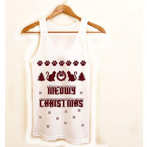 Meowy Christmas Tank top
