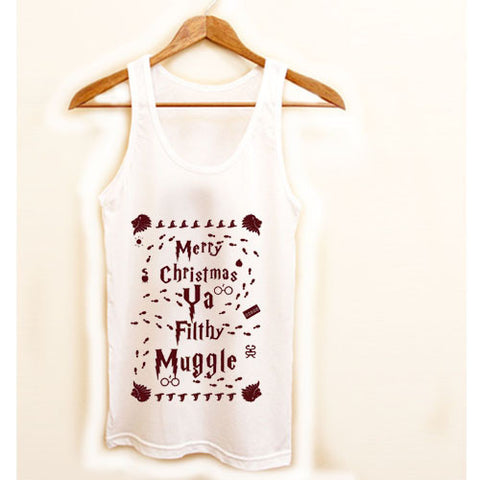 Merry Christmas Ya Filthy Muggle Harry Potter Shirt Ugly Christmas Tanktop